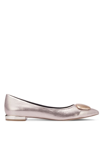 Nose gold Pointed Ornament Flats NO327SH0RVLSMY_1