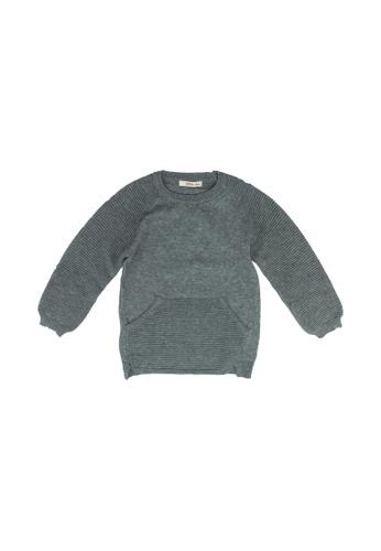FOX Kids & Baby grey Baby Boy Sweater F6FB4KA7FAA42AGS_1