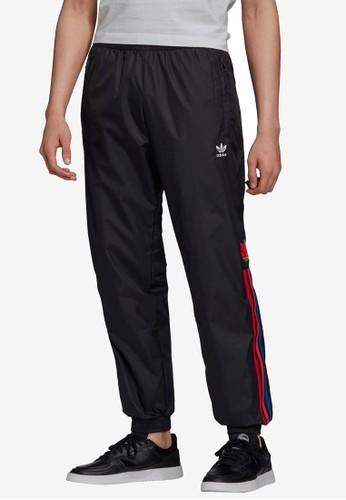 ADIDAS black 3d trefoil 3-stripes track pants A0D1BAA43CA927GS_1