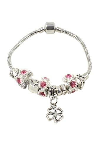 Venice Jewelry pink and silver Venice CB-0005 VE564AC70DJTPH_1