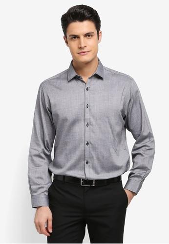 Kent & Crew 灰色 時尚簡約長袖襯衫 72718AA88309DCGS_1