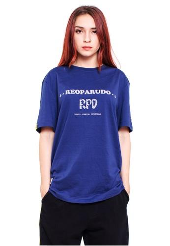 Reoparudo navy RPD 331 Edition Reflective Print Tee (Navy Blue) RE413AA0FG26SG_1