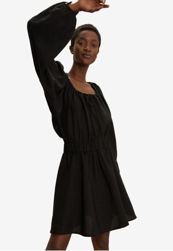 H&M black Lyocell-Blend Dress F5F7CAA0CED519GS_1