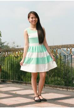 Loreen Mint Striped Dress