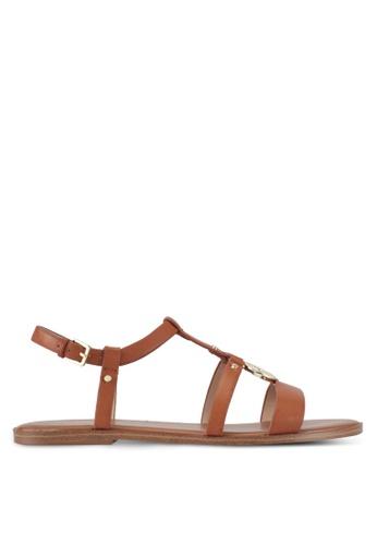 ALDO brown Chickasaw Flat Sandals 3410ASHAEBA707GS_1