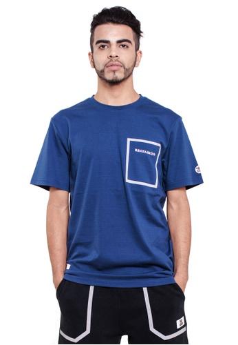 Reoparudo 藍色 and 海軍藍色 RPD 反光印花胸袋T恤(海軍藍色) C45CCAA4C3B709GS_1
