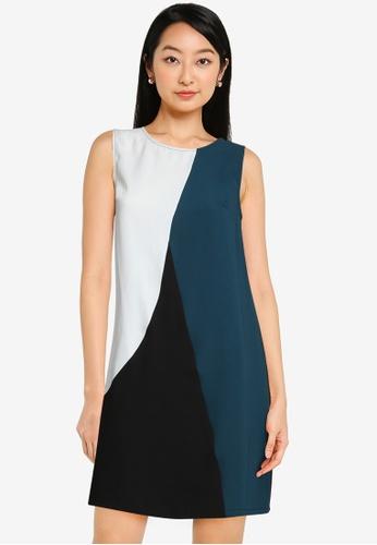 ZALORA BASICS multi Colourblock Mini Dress 9DC8AAA835B34DGS_1