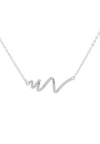 Twenty Eight Shoes silver VANSA Simple wavy diamond Pendant Necklace VAW-N246 2800FACA83A5EAGS_1