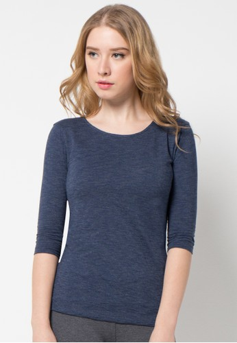 EDITION blue Knit Top 3/4 Sleeves ED101AA41AMWID_1