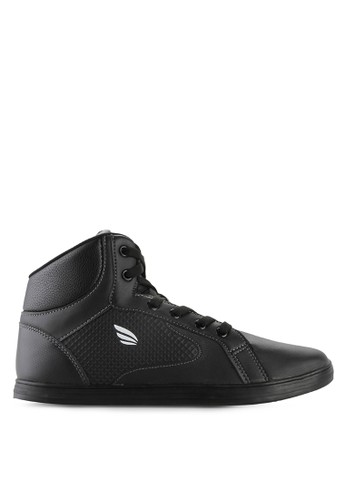 Homypro black Sugar High Cut Sneakers HO843SH39MSQID_1