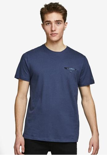 Jack & Jones blue Carter Pocket Short Sleeves Tee 5AD93AA92F7208GS_1