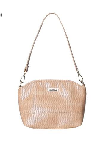 Verchini beige Verchini Embellished Zip Shoulder Bag 3A2E8ACBD5C963GS_1