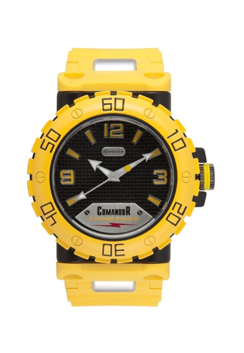 Sk Time Watch Shop yellow Comandor Water Resistant Sport Watch F445DACE7636DFGS_1