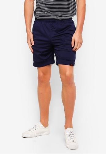 UniqTee 海軍藍色 Jogging Style 百慕達短褲 4B3C5AA28D0126GS_1