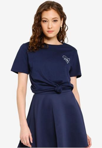 Boohoo 藍色 印花T恤 2CBADAAF13E591GS_1