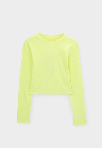 Pomelo yellow Sustainable Cotton Open Back Top - Lemon 30863AA7679535GS_1