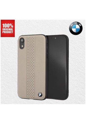 BMW multi BMW - Perforated CT STR Real Leather - Case iPhone XR - Taupe 97A95ES6752412GS_1