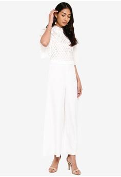 f235020ebc5fd BYSI Crochet Lace Pleated Jumpsuit S$ 99.00. Sizes S M L XL