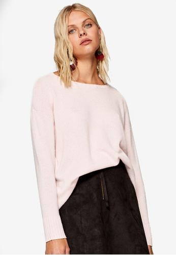 ESPRIT 粉紅色 長袖罩衫 DA299AA4A60EBCGS_1