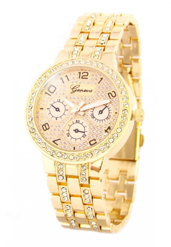 World of Watches gold Geneva Marie Women's Stainless Steel Strap Watch BUS027 WO566AC07JHCPH_1