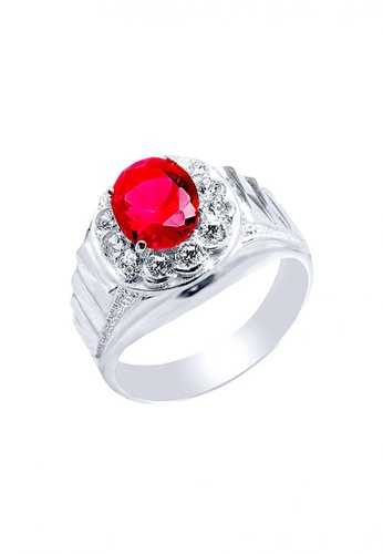0503120a7f842 Elfi red and silver Elfi 925 Genuine Silver Engagement Ring R20 - Red Ruby  EL186AC65JMWMY 1