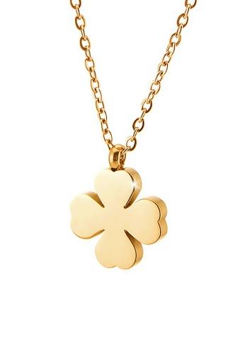 CELOVIS gold CELOVIS - Destiny Four Leaf Clover Necklace in Gold C61E9AC4C65D18GS_1