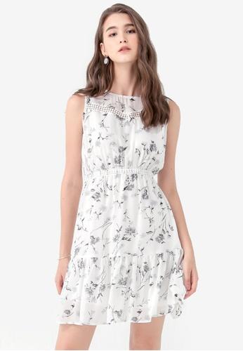 Kodz white Summer Floral Cut-Out Dress 2D688AA0D370DFGS_1