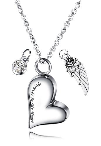 Trendyshop silver Heart Necklace 0B2B3AC0A99FE8GS_1