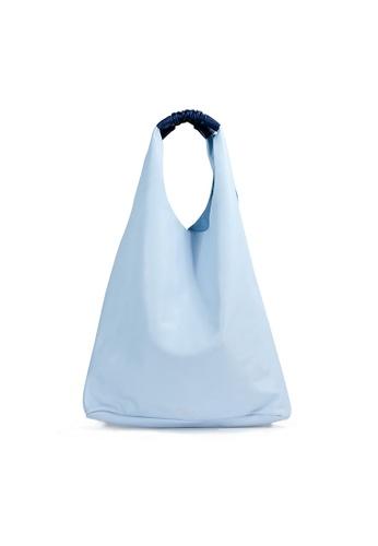 Shu Talk blue Christian Villa Italian Made Bi-colored Buttery Soft Leather  Hobo Handbag 9DB49AC5D19DC0GS 1 79b446f22e8fb