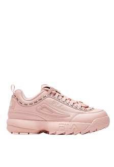 Original  Womens Fila Disruptor Premium II Blush Pink Nude Trainers Shoes Chunky
