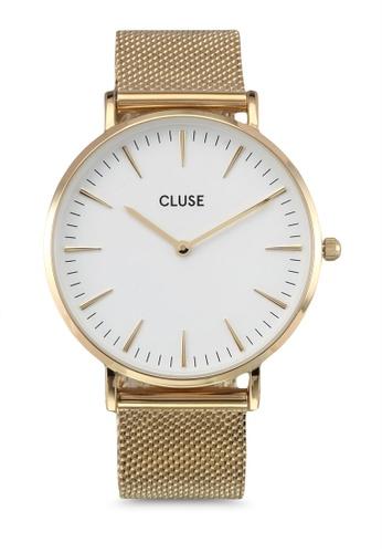 CLUSE gold La Boheme Mesh Gold/White CL977AC0SA35MY_1