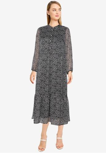 Vero Moda black Mira 7/8 Calf Dress E9EC7AAAAF4975GS_1