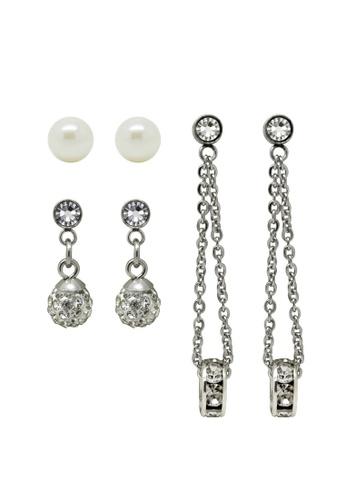 Fur Nyce silver Pearl Rhinestone Earrings Set F03BAAC39ACC41GS_1