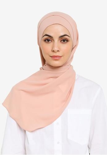 UMMA pink Nawar Basic Scarf in Sorbet Peach 2D25CAAF76425DGS_1