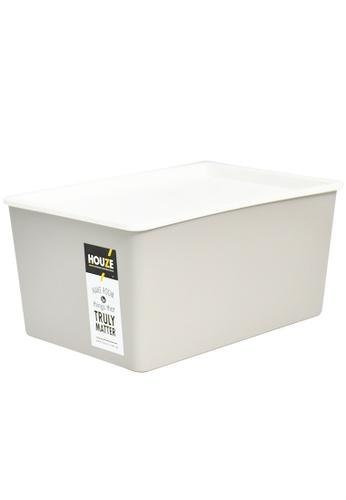 HOUZE grey HOUZE - 12L Linear Box with Lid - Grey 5ADB8HLBCCA070GS_1