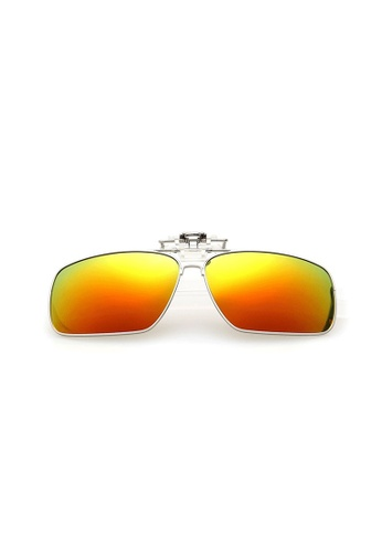 A FRENZ yellow and gold Full Rim Polarized UV400 Flip-Up Large Clip On Sunglasses F55C7GL948D911GS_1