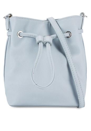 Velvet Saffiano Small Drawstring Bag