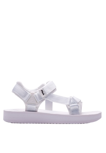 Fila white Drifter Sandals 6EC07SH23029D6GS_1