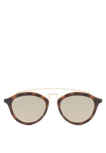Resprit 兼職B4257 粗圓框太陽眼鏡, 飾品配件, 飾品配件