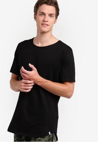 Factorie black The Curved Tall Tee FA880AA75VCIMY_1
