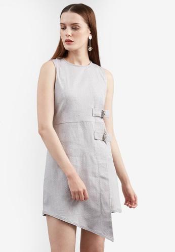 Berrybenka grey Firina Buckle Dress E3393AA15D43B5GS_1