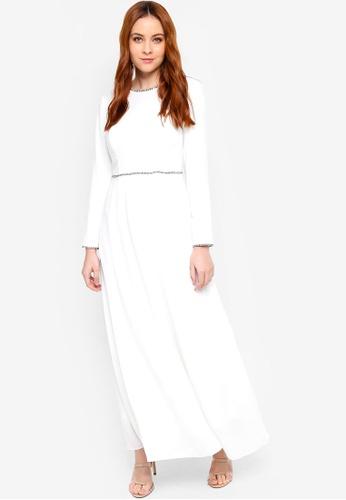 Zalia white Tweed Trim Dress CE51CAA4726BB5GS_1