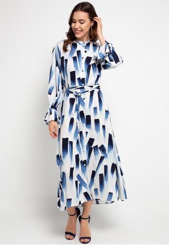 Covering Story blue Arshin Dress 4E059AA0743BEFGS_1