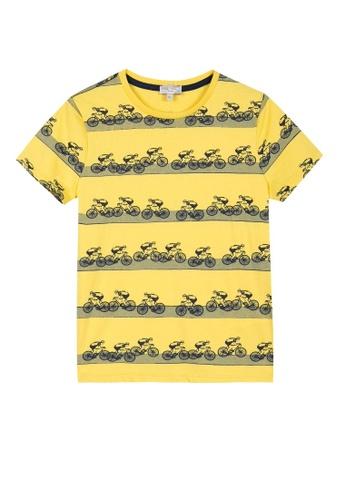 PAUL SMITH JUNIOR yellow PAUL SMITH JUNIOR BOYS T-SHIRT 427D3KA3F6D52AGS_1