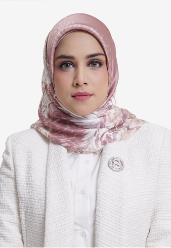 Buttonscarves pink Buttonscarves The Farsha Satin Square Misty Rose 3D9A5AA6F30A18GS_1