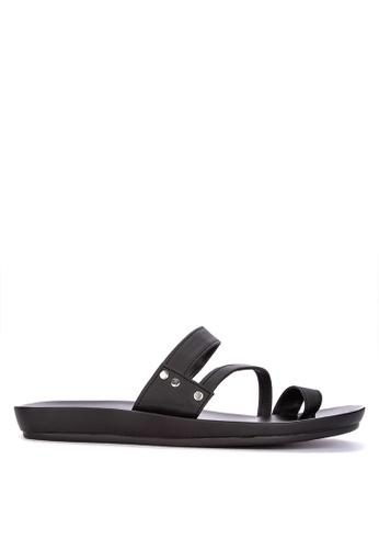 Frassino Collezione black One-Toe Sandals FF1B5SH0F625ACGS_1