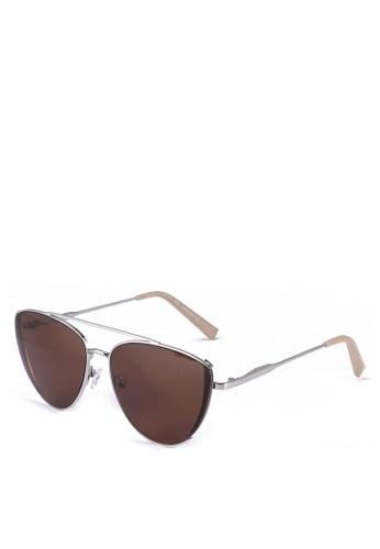 Kendall + Kylie silver Kai Sunglasses 6A02BGL590E158GS_1