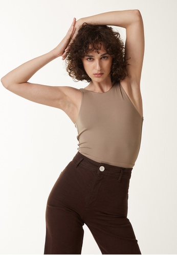 Annibody brown and beige BEA Body - Taupe 410C5AAAC2A33CGS_1