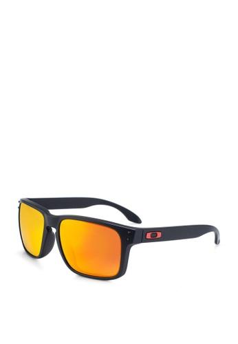 Oakley 黑色 長方形太陽眼鏡 DAE01GL528D1B9GS_1