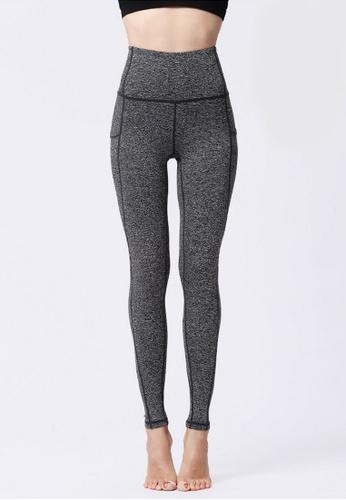 B-Code grey ZYG3068-Lady Quick Drying Running Fitness Yoga Sports Leggings -Grey 8FEC9AAAC2E9A0GS_1